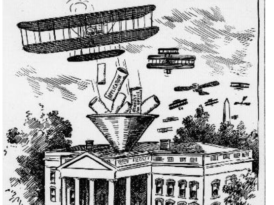 Exhibition pilot Harry Atwood lands his Wright Brothers-designed airplane on the White House lawn #OTD 1911, a first. President William H. Taft awards him a gold medal for the feat. More in our historical newspaper archives: chroniclingamerica.loc.gov/lccn/sn8304546… #ChronAm