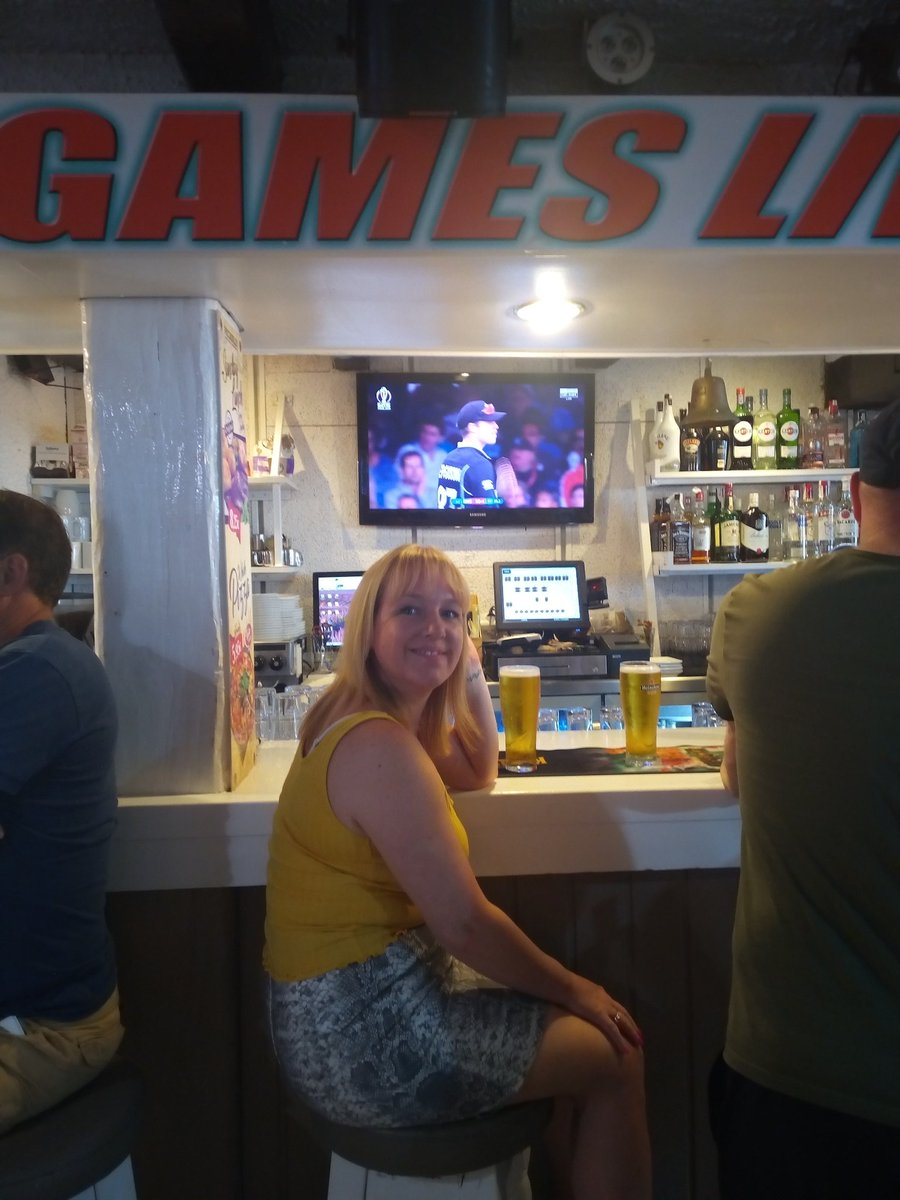 Somebody secretly likes the Piccadilly sports bar in Lloret De Mar 😉@kellW1979 #CricketWorldCup19 #WimbledonFinal