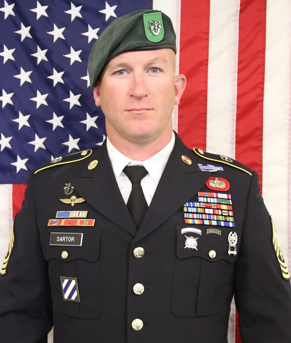 This is Sgt. Maj. James G. Sartor. He was killed by small-arms fire in Afghanistan on Saturday, July 13 while deployed with 10th Special Forces Group.  Between Iraq and Afghanistan, Sartor was deployed in 2002, 2006, 2007, 2009, 2010, 2017 and 2019.  RIP.