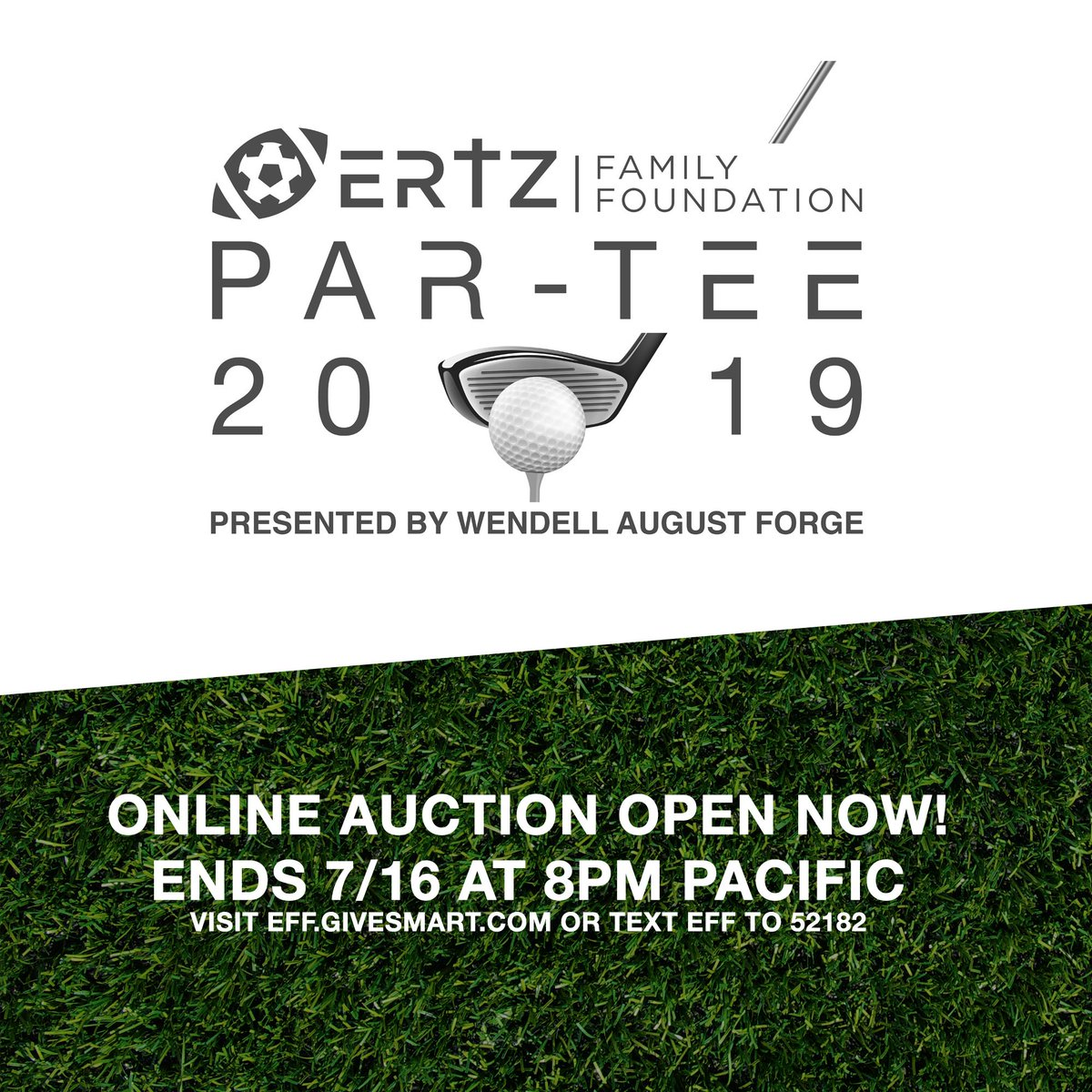 Our Ertz Family Foundation Par-Tee Golf Tournament and Reception Online Auction is Open Now! Bid on one-of-a-kind memorabilia and experiences -- all benefiting the #ErtzFamilyFoundation. Auction Ends 7/16 at 8pm Pacific. Visit EFF.givesmart.com or text EFF to 52182.