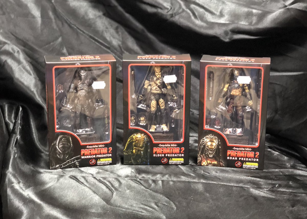 "Heroes & Fantasies has your 3.75"" Predator action figures!  Hiya Toys brings it with fully articulated figures, great accessories, and individual stands Hurry in today!   #Predator #ActionFigures #Toys #Collect #Collectible #SanAntonio #ToyHunter #ElderPredator #PopCulture #LCS"
