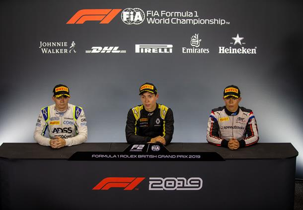 """I just had to go for it!""  Jack Aitken talks us through his home win, and we get thoughts from Louis Deletraz and Nyck de Vries too 👉 http://tinyurl.com/F2-GBR-Sprint-Press …  #BritishGP 🇬🇧 #F2"