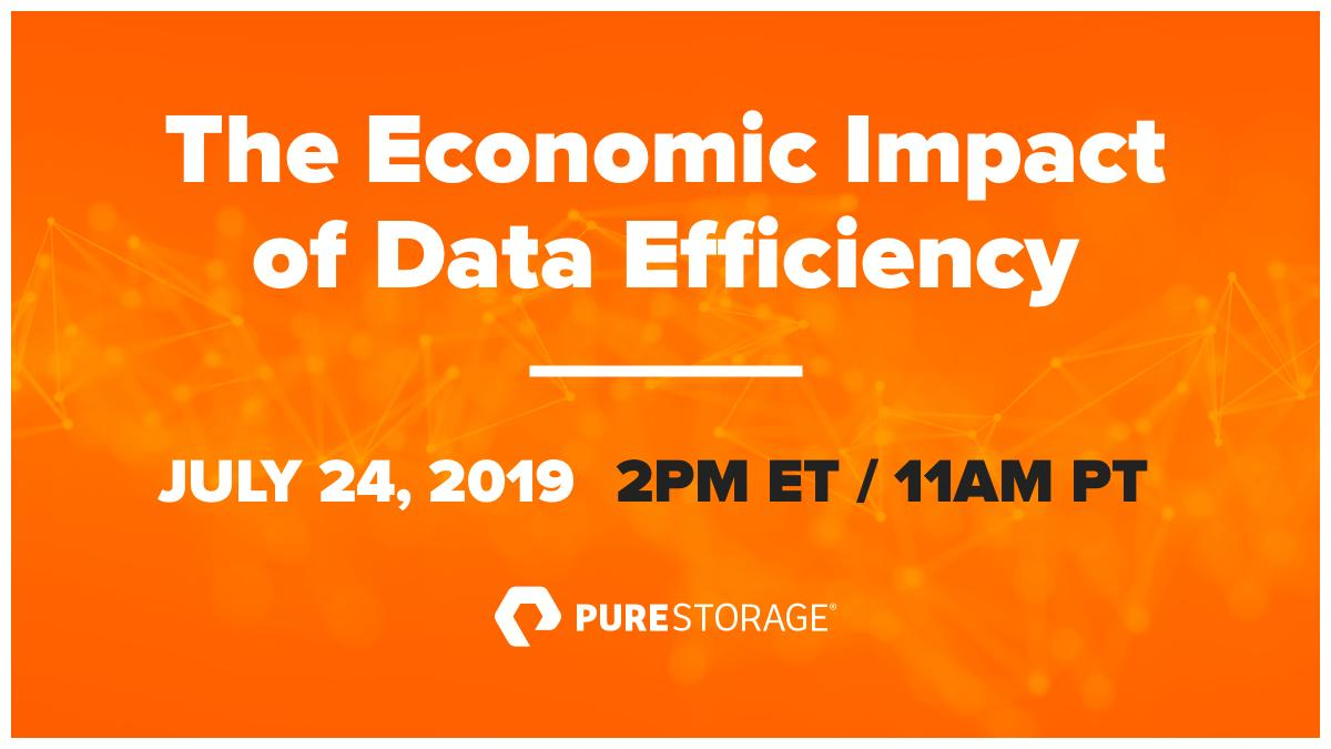 In this webinar, learn more from @esg_global on primary research to establish the economic impact of data efficiency in real-world storage environments. bit.ly/2GcgRvE