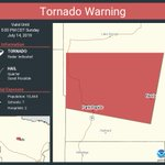 Image for the Tweet beginning: Tornado Warning continues for Park