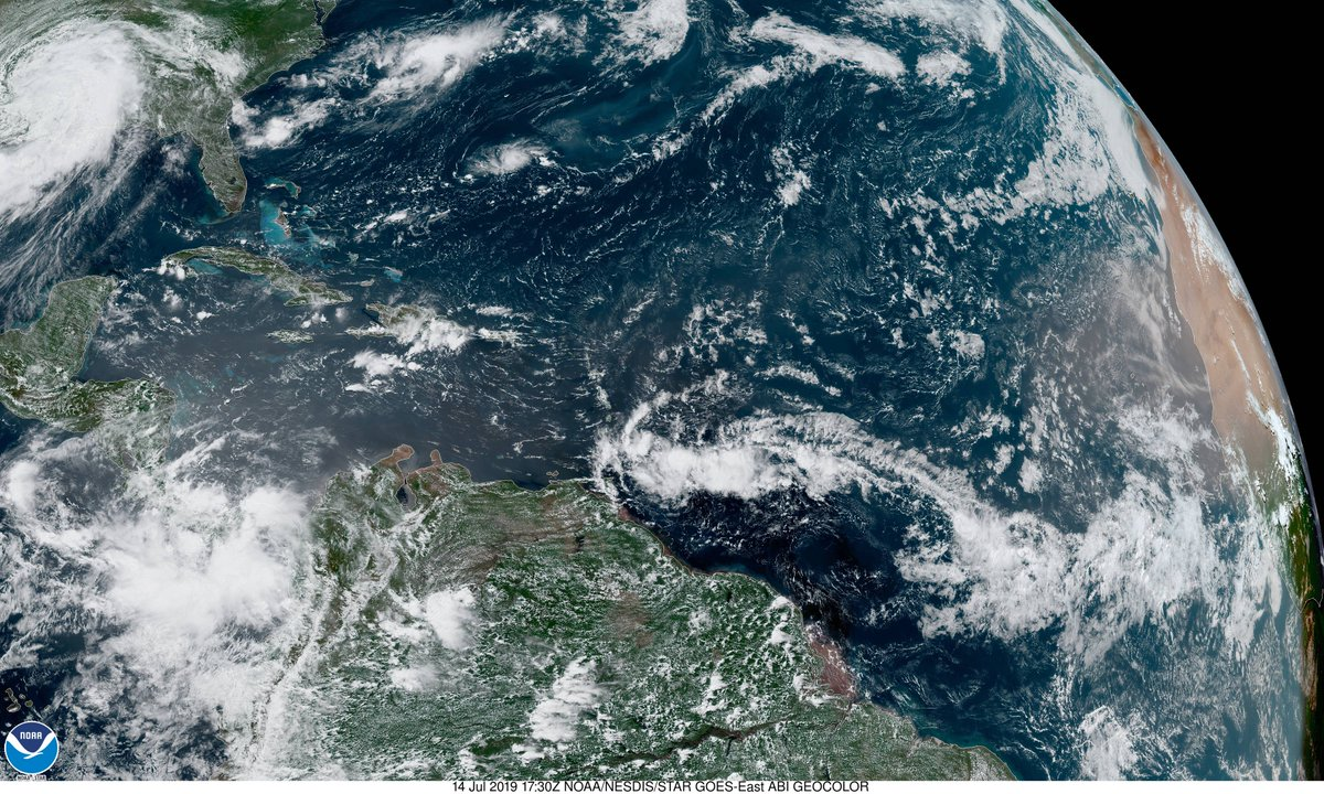 Barry has weakened to a tropical depression over NW Louisiana. However, the threat of heavy rainfall remains. The rest of the Atlantic Ocean is quiet with a few weak tropical waves. Development over the next 5 days is not expected. #flwx #KeyWest #FloridaKeys #TropicalStormBarry <br>http://pic.twitter.com/oz1cy5TeRN