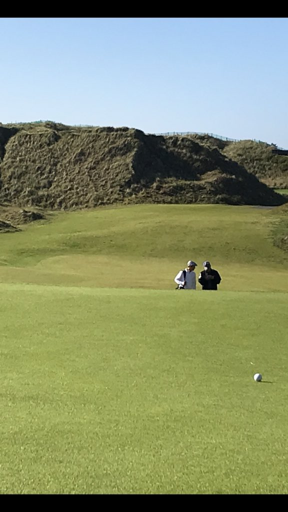 One of the best days I've ever had. Father, son & grandson in Ireland on the links @PortstewartGC @TheOpen !