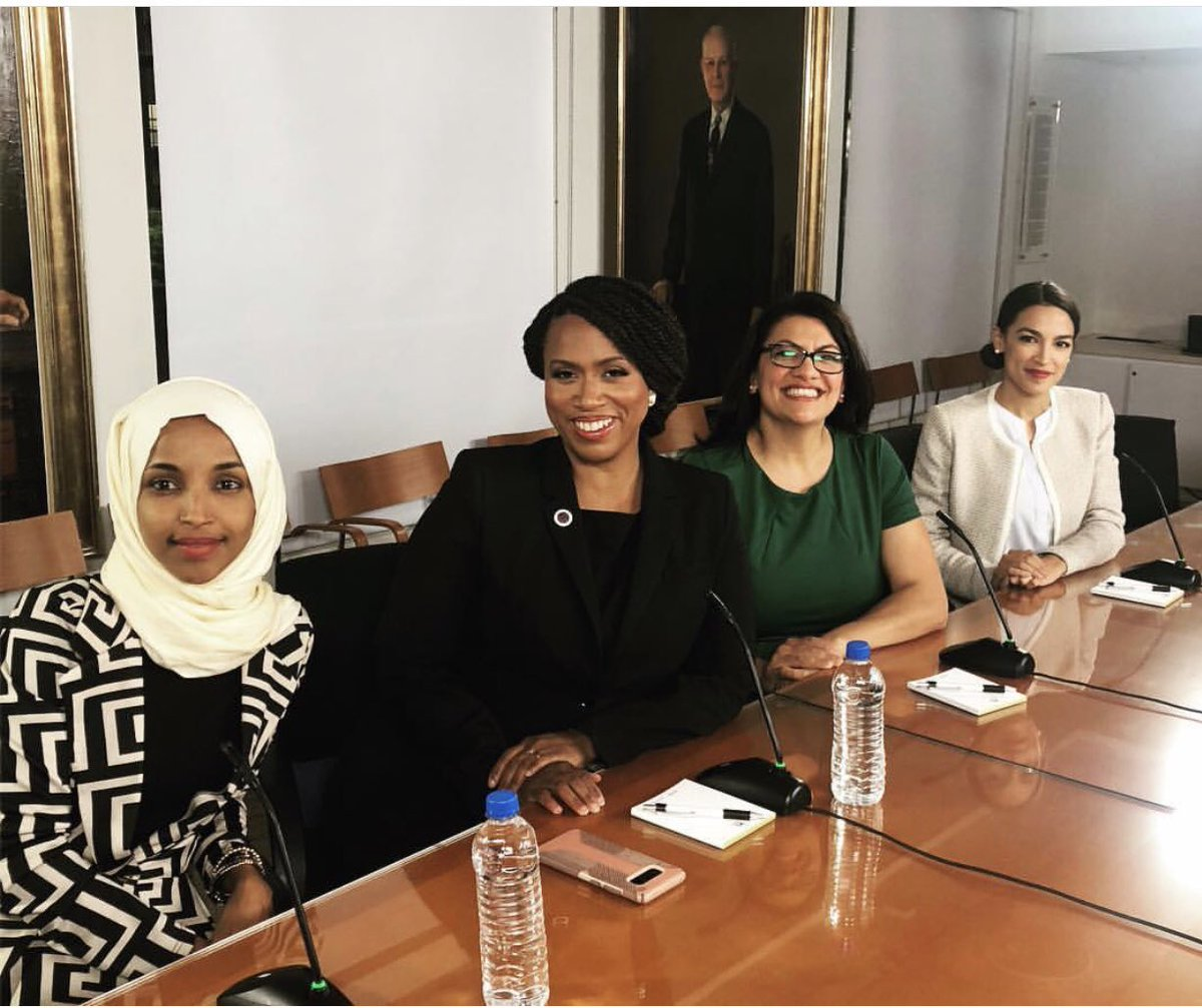 Saluting these women. Stay pushing. Stay shining. Stay working. Stay a pain in the ass of the #RacistInChief and all his co-horts. Stay true to who you are. Stay safe. Stay together. Stay making us proud. #FourQueens