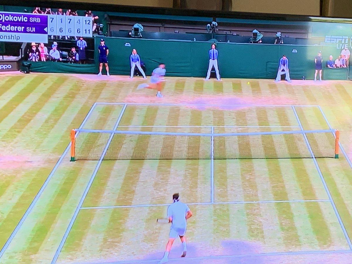 Match of the century #WimbledonFinal Wow!