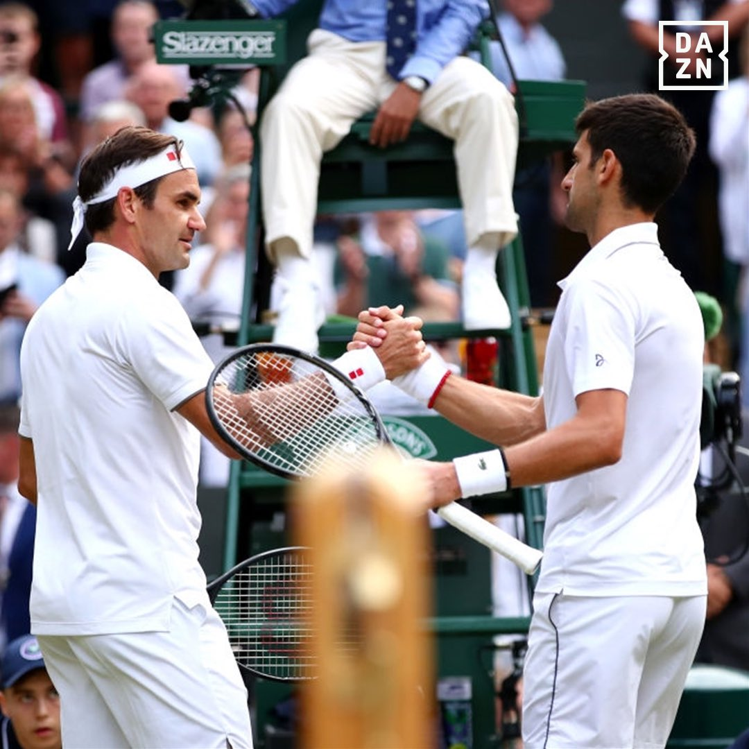 We know a thing or two about amazing heavyweight title fights, and that was certainly one of them.   Bravo, Roger & Novak. 👏   #Wimbledon