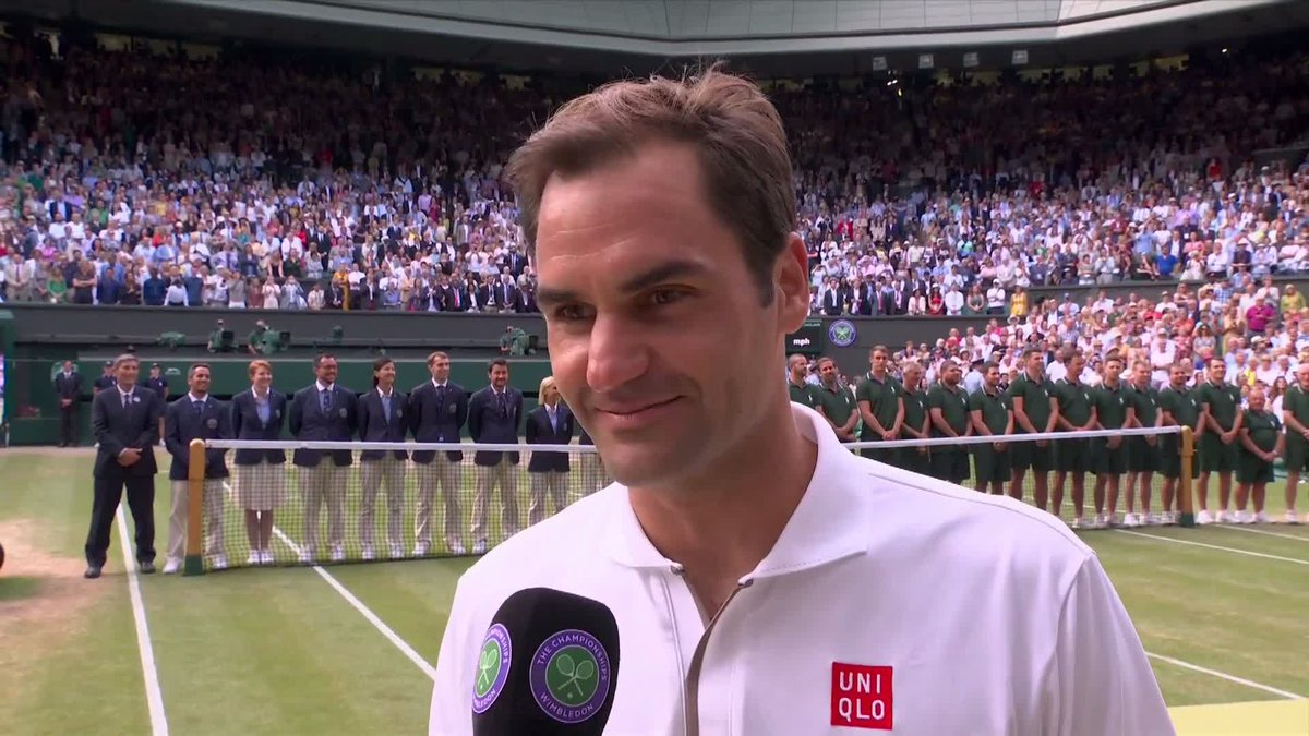 """At 37, it's not over yet! For @rogerfederer, the pursuit of more Grand Slam glory continues... #Wimbledon"