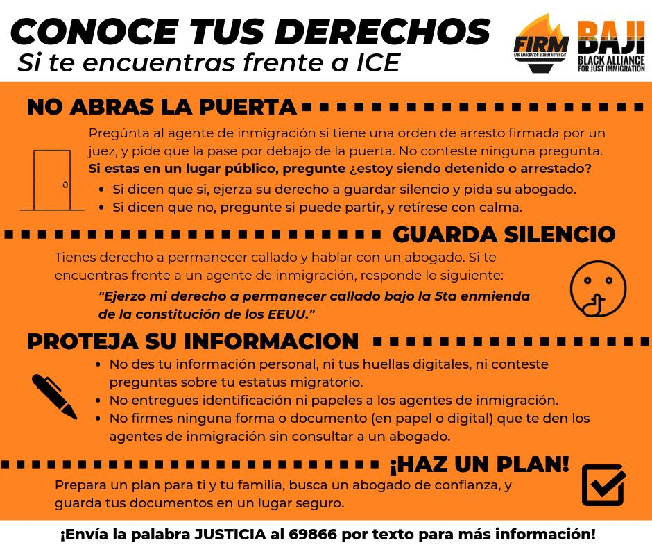RT @BAJItweet: Here are Know Your Rights in Haitian Kreyol and Spanish.  Share and spread the word. #ICEraids https://t.co/I5CXySYvET