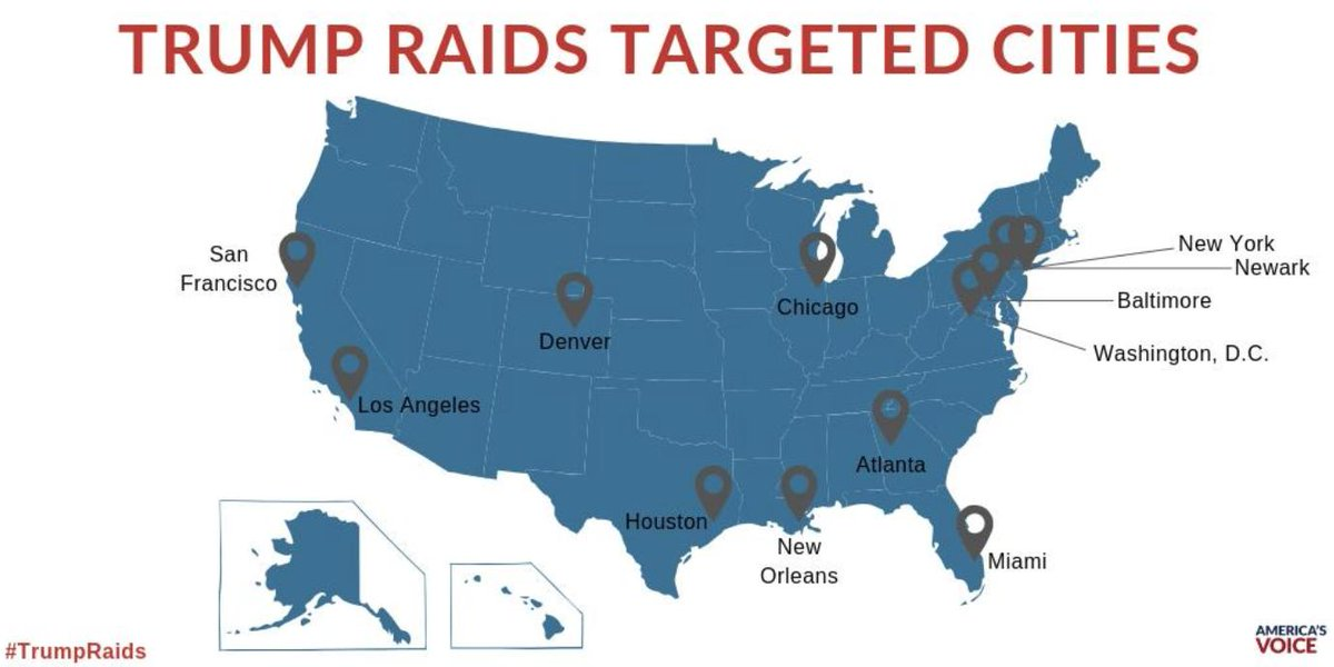 🚨 ALERT 🚨Trump is launching family separation raids across the country in the cities below. If you see something, call 1-844-363-1423 #TrumpRaids