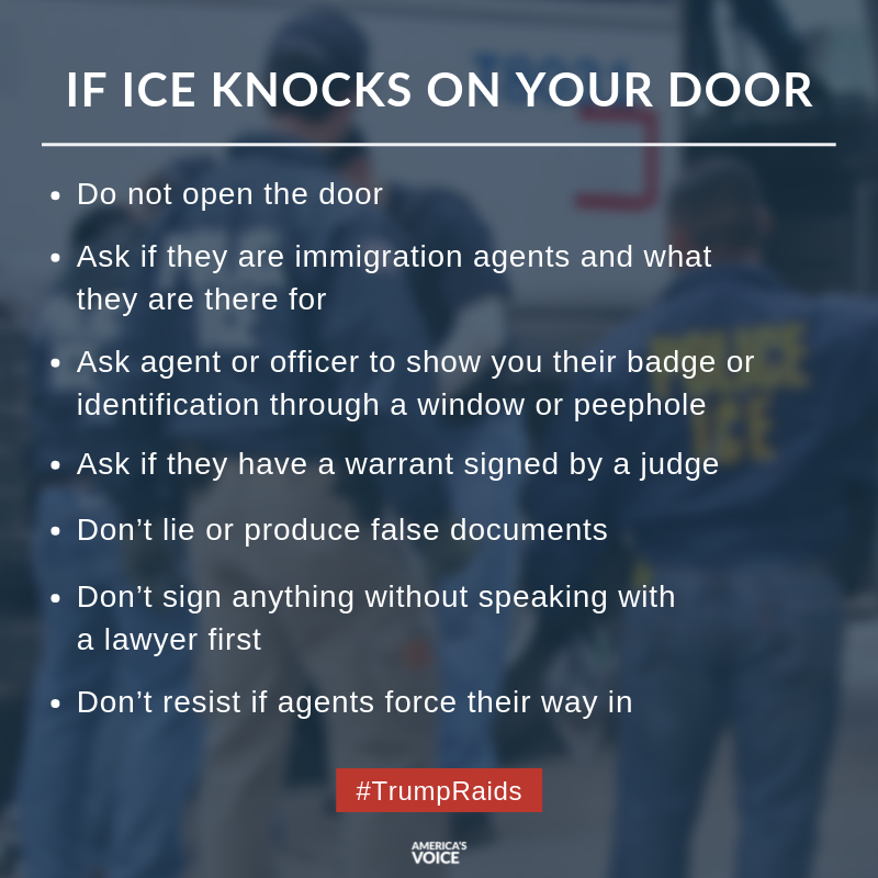 If @ICEgov doesn't have a warrant...  Do not open the door.   #KnowYourRights  #TrumpRaids
