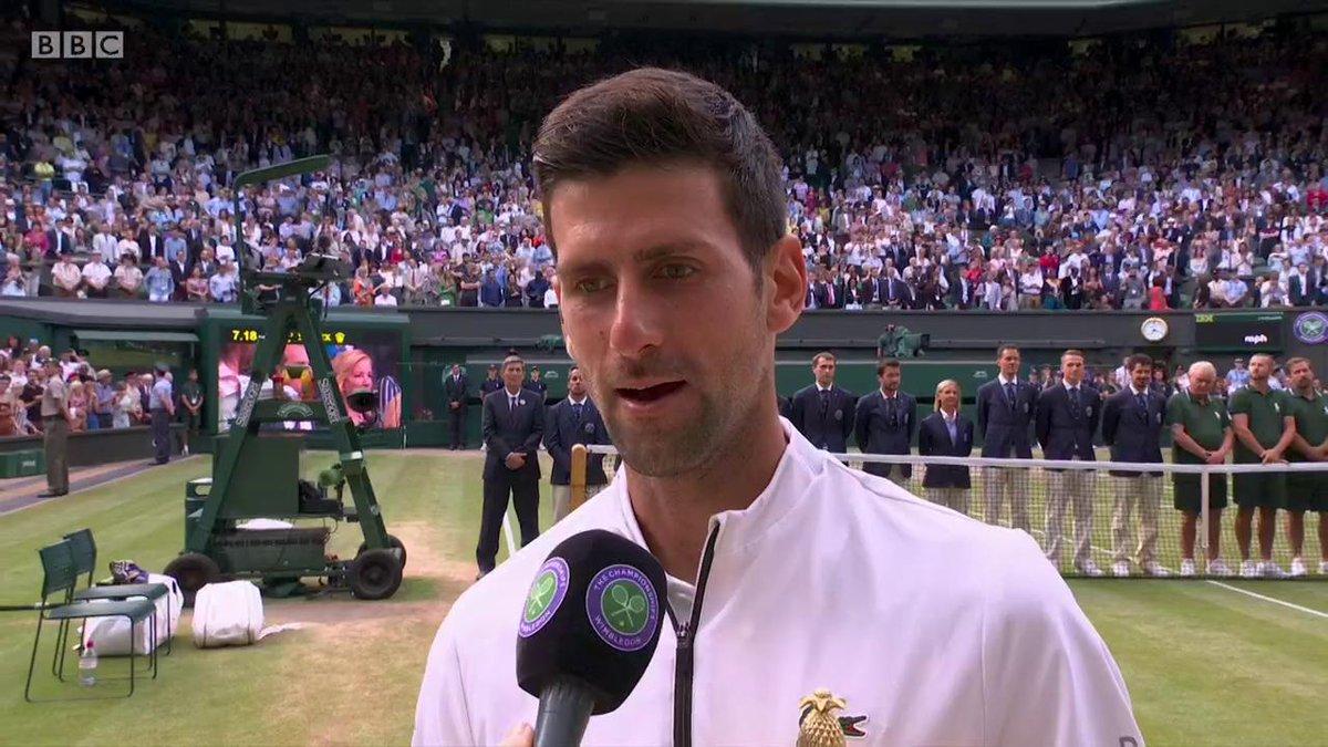 Novak Djokovic's boyhood dream just keeps coming true! #wimbledonfinal #bbctennis