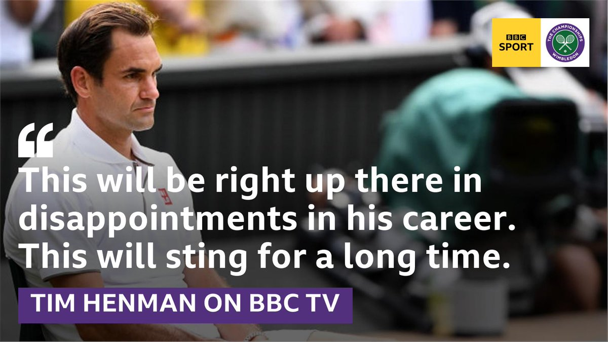 """""""To have two match points - it will hurt.""""#Wimbledon #bbctennis"""