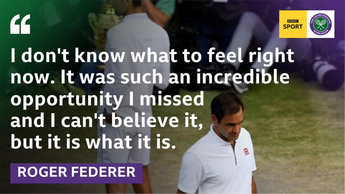 You'll bounce back, Roger. As you always have. 👊#Wimbledon #bbctennis