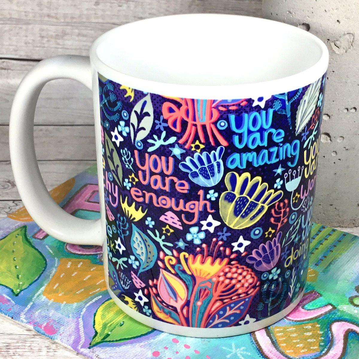 A dose of positivity with your coffee?   https://www. etsy.com/uk/listing/695 427196/motivational-mug-positive-affirmations?ref=shop_home_active_1&frs=1  …  #handmadehour #positivemindset  #selfcare #etsyuk #youareamazing #womaninbizhour<br>http://pic.twitter.com/1A16r0GKfv