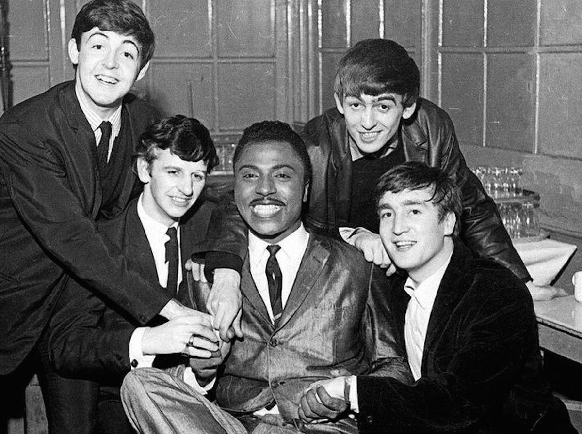 Classic of Little Richard consenting to pose with obscure opening act in Hamburg, 1962:        #Beatles.