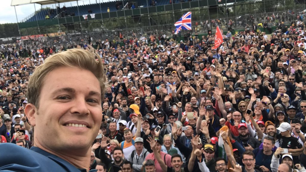 Me and my mate @nico_rosberg chilling at Silverstone