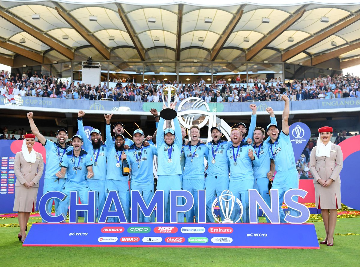It's come home. 🏴󠁧󠁢󠁥󠁮󠁧󠁿 Congratulations @englandcricket - the new world champions. @ICC @CricketWorldCup #CWC19 #FlyEmiratesFlyBetter