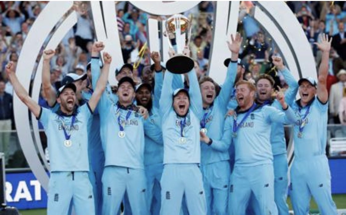 Congratulations @Eoin16 and each member of the team for becoming the champions 2019 #WorldCupfinal #champions #WINNER @ECB_cricket 🏴󠁧󠁢󠁥󠁮󠁧󠁿🏆
