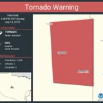 Image for the Tweet beginning: Tornado Warning including Laporte MN,