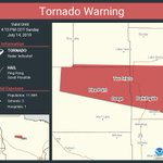 Image for the Tweet beginning: Tornado Warning including Park Rapids