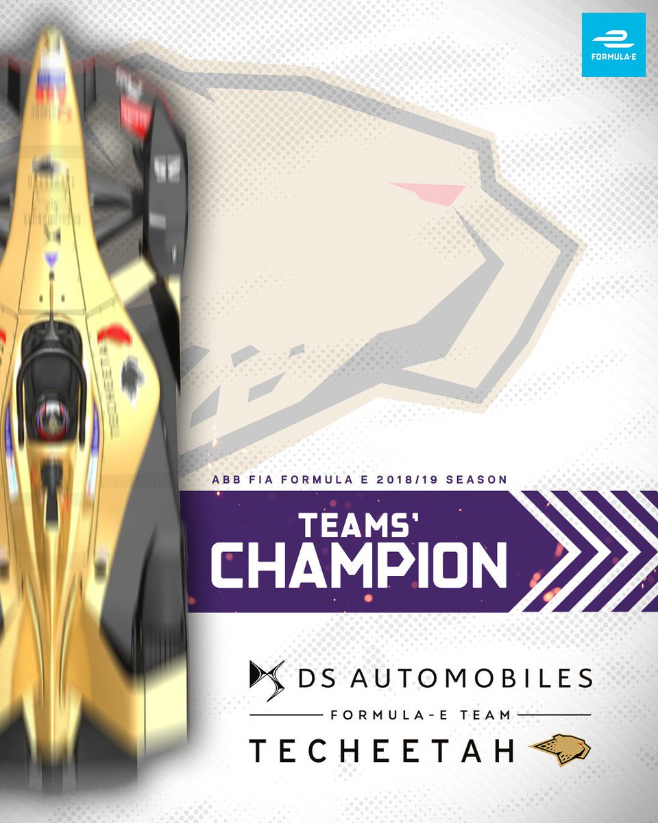 Even more success for @JeanEricVergne, @Andre_Lotterer and @DSTECHEETAH as they win the Teams' Championship! #NYCEPrix #ABBFormulaE