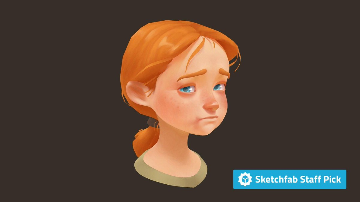 New staff pick: Girl by Dávid Fatér. Check it out in #3D, #AR or #VR: bit.ly/2JE7JAx