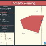 Image for the Tweet beginning: Tornado Warning continues for Richland