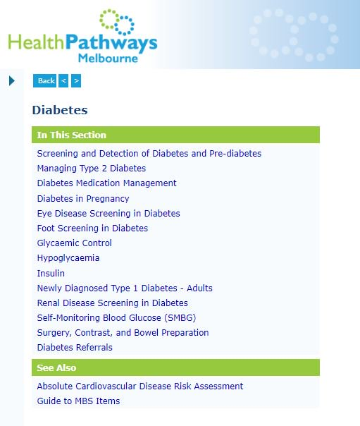 On National #DiabetesWeek we highlight the diabetes pathways developed to support general practice teams' capacity to screen and manage diabetes and support patients with education. Access them here. https://melbourne.healthpathways.org.au/21832.htm?utm_source=social&utm_medium=Twitter&utm_campaign=Diabetes_July2019…