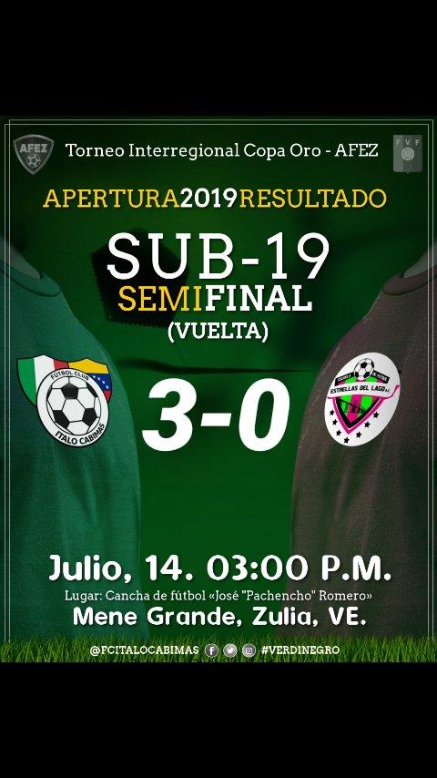 | ¡FINAAAAAL DEL PARTIDOOO! Estamos en la final, nos vemos en Maracaibo | #EstrellasdelLago 0-3 #FCICabimas | #FUTVE #CopaOro #Sub19 #Semifinal #Verdinegro 💚🖤⚽