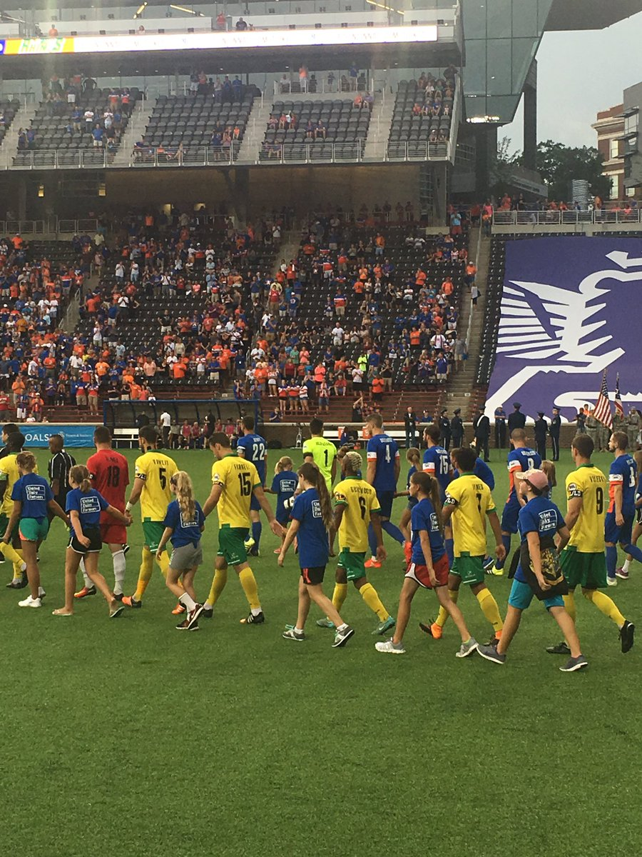 @fccincinnati My daughter walking out with the team ⚽️ inaugural season!