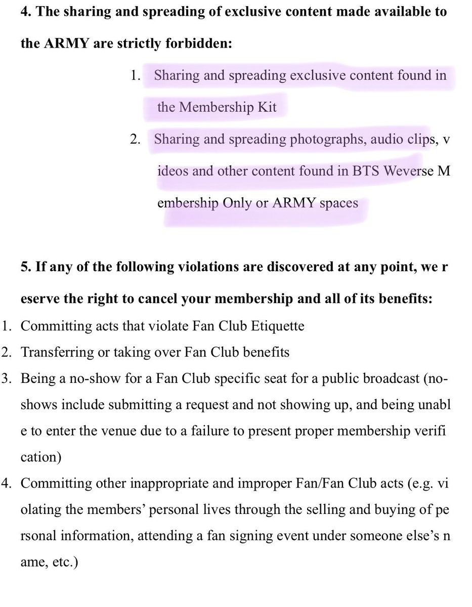 PLEASE DO NOT SHARE EXCLUSIVE CONTENT ON TWITTER. For those who don't know, 5th ARMY content leaked and BH basically didn't upload anything for a long time. They are strict with this.