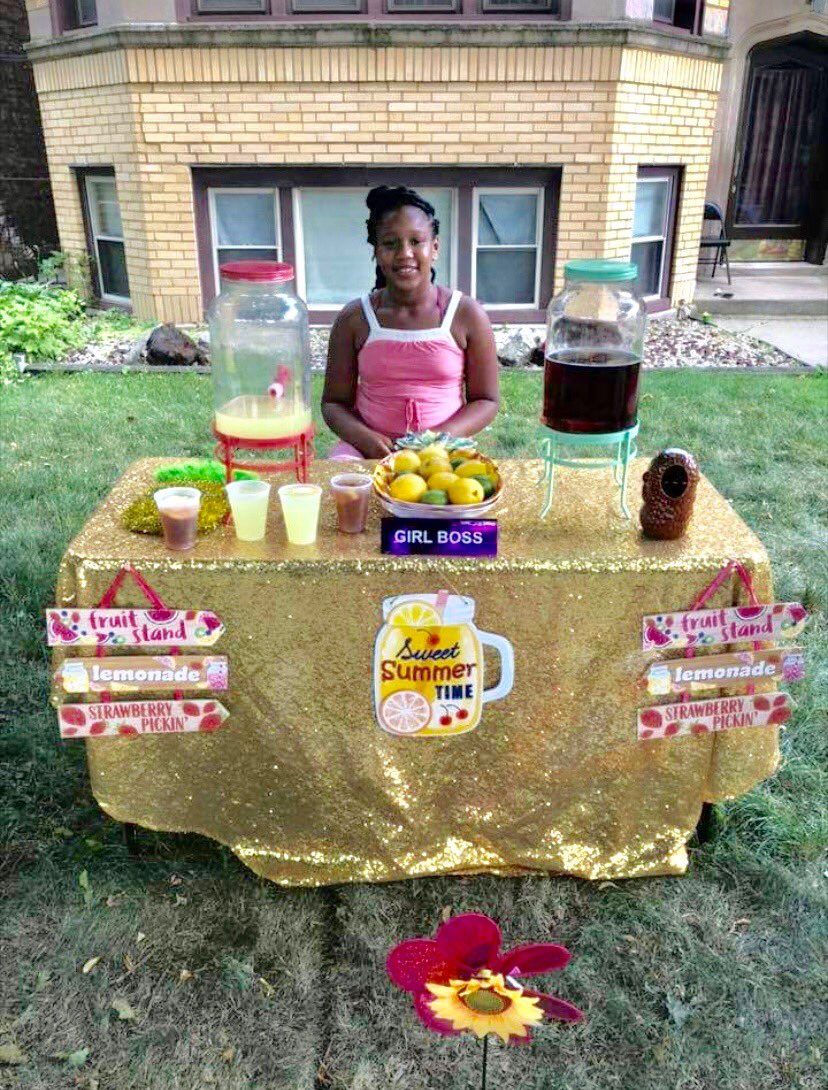 """Need a """"really cool"""" drink? We always celebrate young entrepreneurship! Meet Ms. Kimora Porter! She has started the """"Fancy Lemonade Stand."""" She's a #GirlBoss! #PUSHingForExcellence #KeepHopeAlive!"""