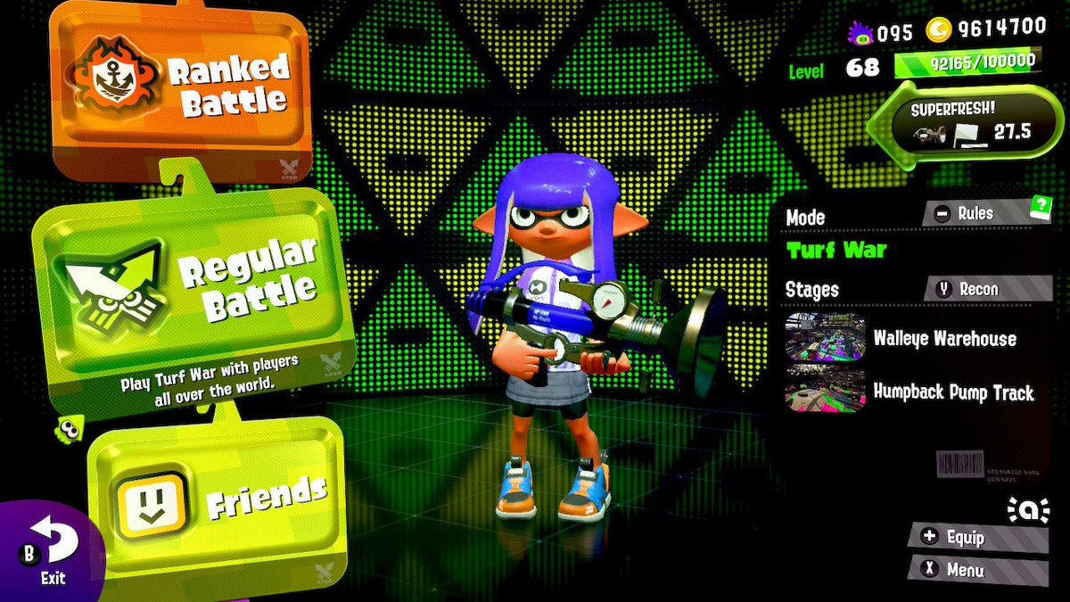 My new effort:  See how fresh my Sploosh can get this late in the game  #Splatoon2 #NintendoSwitch<br>http://pic.twitter.com/WPE2XbFQKz