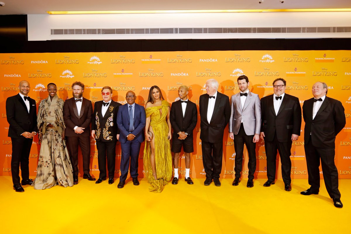 The Duke and Duchess of Sussex attended the European Premiere of #TheLionKing alongside cast and filmmakers. Check out pictures from tonight's event now 👑 (1/3)