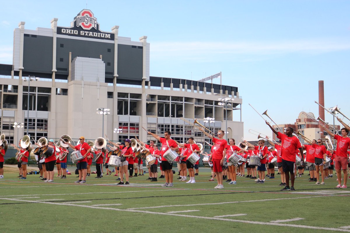Today marks the end of our annual high school summer clinic — more than 200 high school students joined us for a weekend of music and marching! #GoBucks<br>http://pic.twitter.com/aW4QIf7mMO