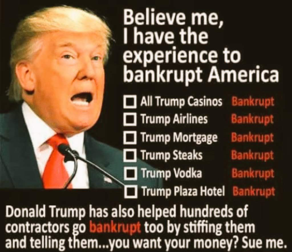 The Economy is a Scam! Much like Trump University! Trump Casinos & Trump Foundation & Trump Airlines! Just to mention a few!  You delusional Treasonous pathological liar fucking moron conman rancid fishlips incompetent corrupt clueless ASSHOLE!  NY knows your SCAM! #JailTimeSoon <br>http://pic.twitter.com/TjrMaQ6Izf