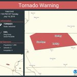 Image for the Tweet beginning: Tornado Warning continues for Harding