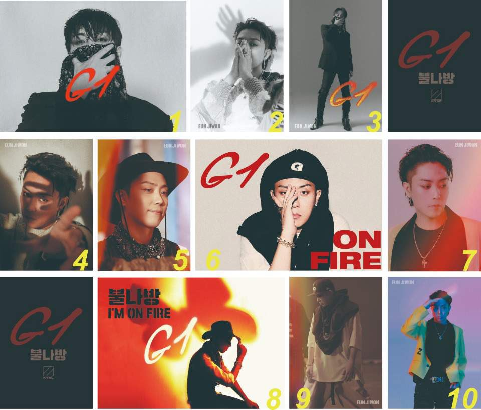 I am preparing the postcard as the gift for 1kyne, which one do you like most ❤️#eunjowon #은지원 #殷志源 #1KYNE #G1 #불나방 #gift #ImOnFire
