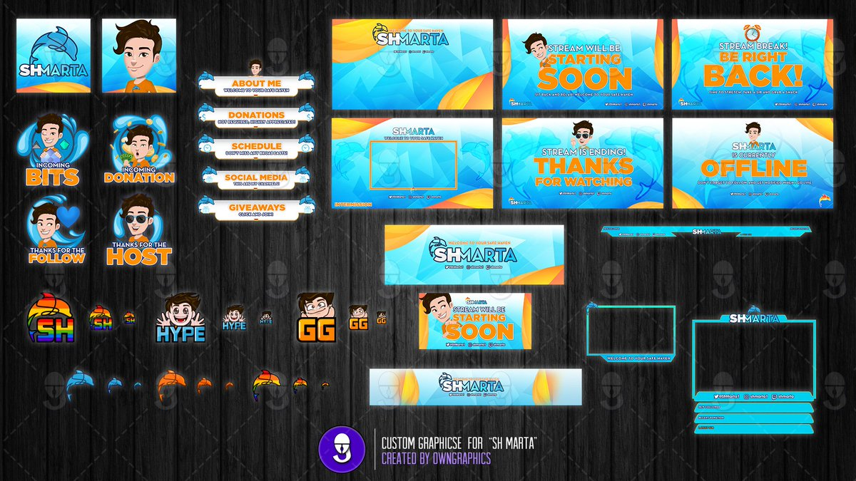 Custom Logo, #Twitch and #YouTube branding package crafted by @OwnGraphics for streamer @ShMarta1 🌊💦🐬  Turn your vision into a live masterpiece with @OwnGraphics   Check out the streamers pages! 📺Twitch https://www.twitch.tv/shmarta   ▶️YouTube https://www.youtube.com/shmarta   #OwnGraphics