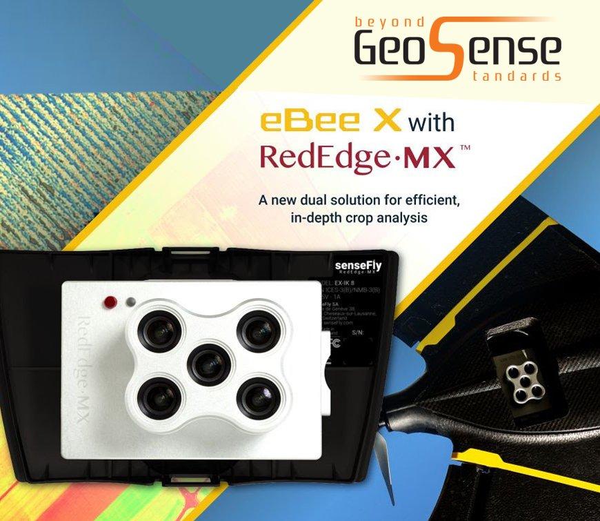 senseFly eBee X with MicaSense RedEdge-MX: the sensor that