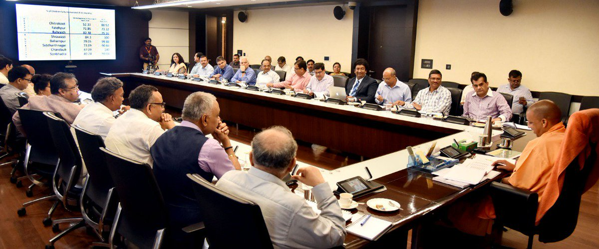 Detailed review of the #AspirationalDistrict Program with @CMOfficeUP and senior officials of @UPGovt . Some terrific work being done in these Districts; but more needs to be done to systemically sustain the initial gains.