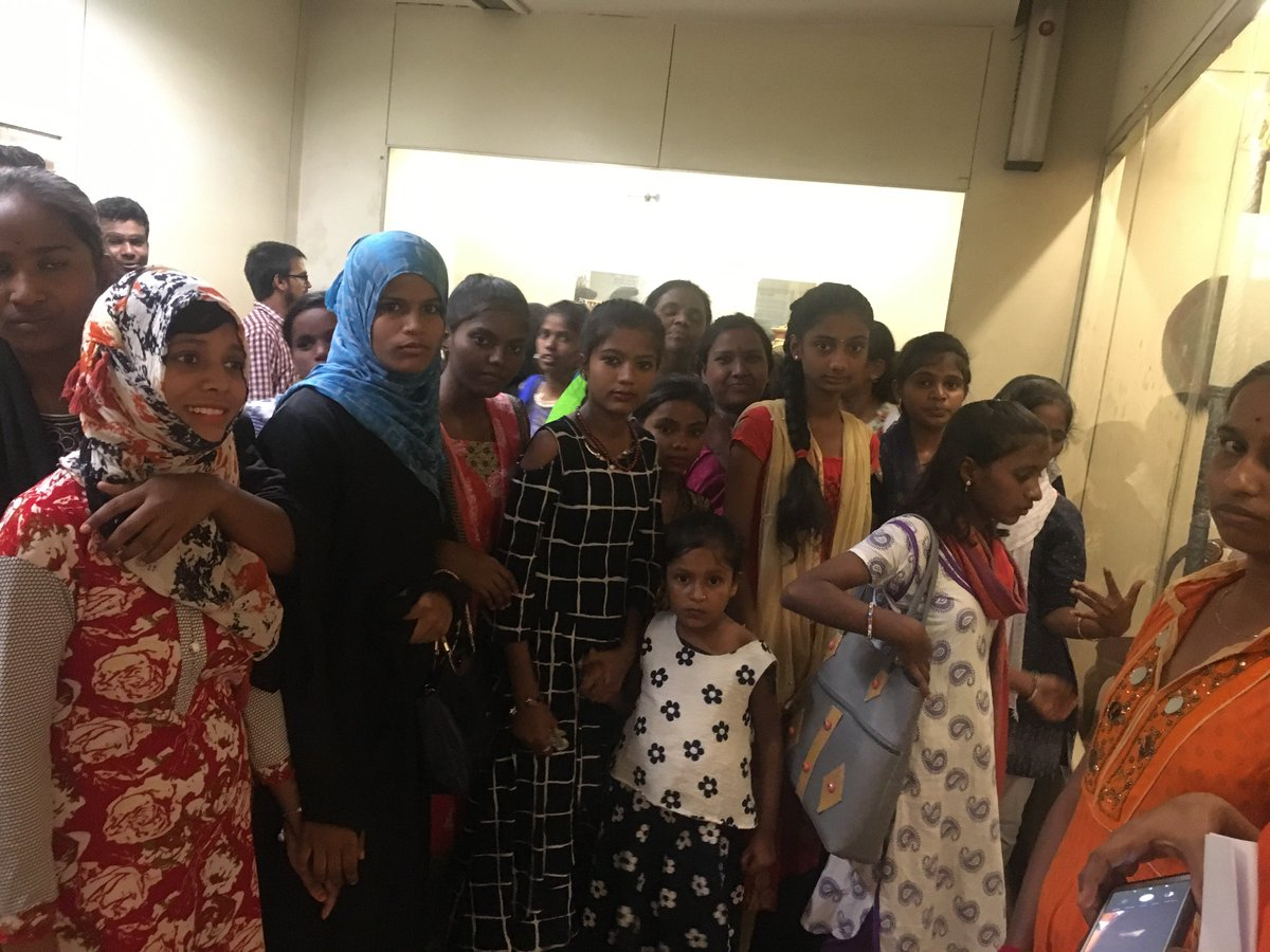 Visit by students from Sree Educational Society, Hyderabad to Salar Jung Museum on Sunday, 14th July 2019 ! #underprevilegedstudents #museumvisit
