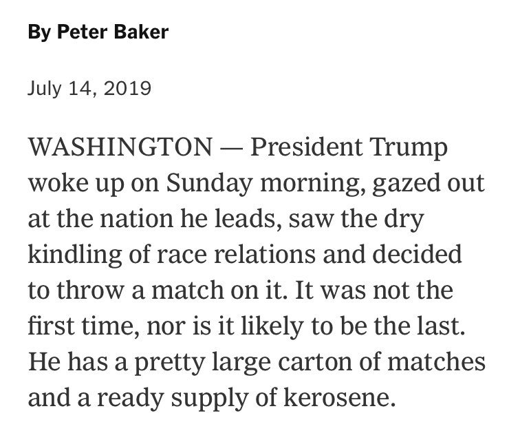 Nobody writes ledes quite like @peterbakernyt and he does it day after day, week after week