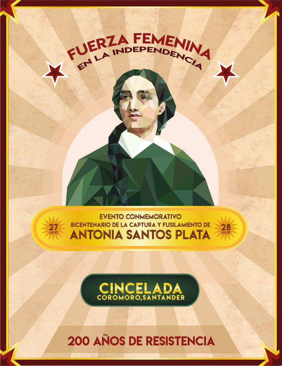 Pues por ahí me llegó esta invitación de una compañera que aprecio y admiro mucho, y me alegra enormemente que en Cincelada #Santander se reconozca a Antonia Santos como un referente importante de nuestra fuerza.  Las #mujeres en la independencia 💛✊🏻