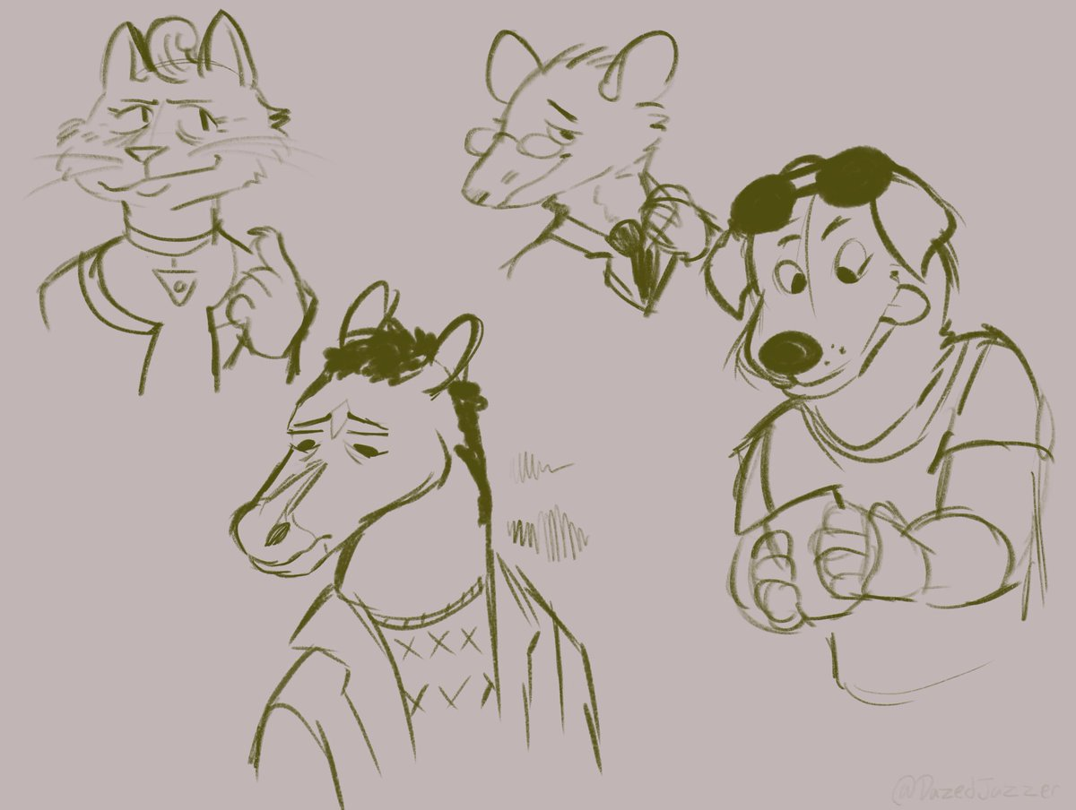 Been going through the seasons and hhho man... had to sketch em #bojackhorseman <br>http://pic.twitter.com/pmeK6LwLA0