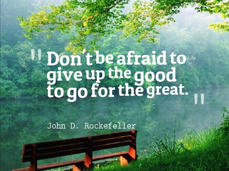 Monday Friendly Reminder...Don't  be afraid to give up the good to go for the great  #MondayMotivaton #newweek #QOTD<br>http://pic.twitter.com/90gO4ggKJb