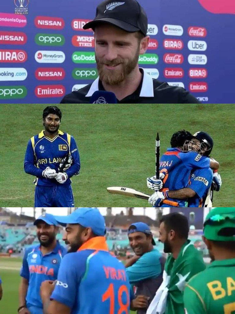 According to Some Legendary Cricket fans of India!   Pic1&2 -  If Cricket is a Gentleman's Game these two are Gentleman's    Pic 3 -  Kohli Laughing after loose ....Shame etc....  Insecurity at its best ! <br>http://pic.twitter.com/p6AsohfA74